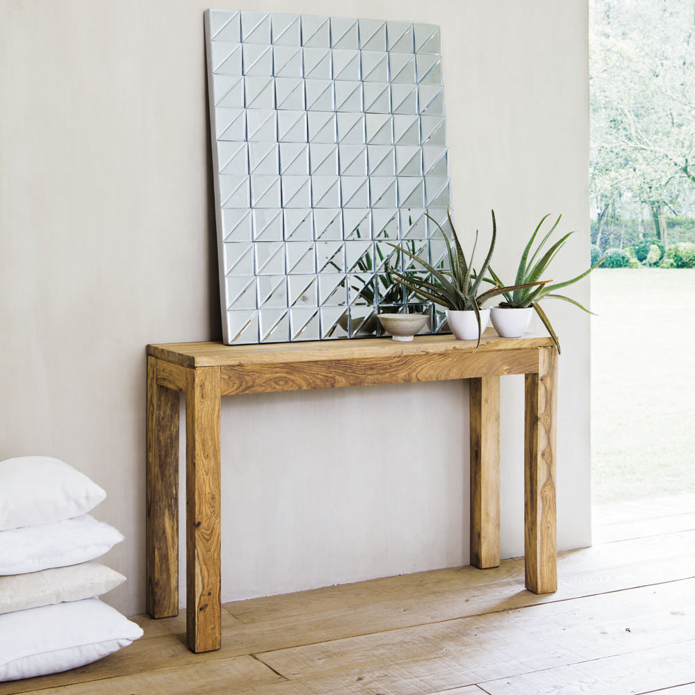 Solid sheesham wood console table w 120cm maisons du monde stockholm geotapseo Image collections