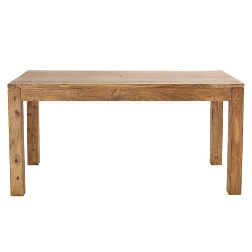 Solid sheesham wood dining table w 160cm stockholm for Table rectangulaire 160 cm avec rallonge