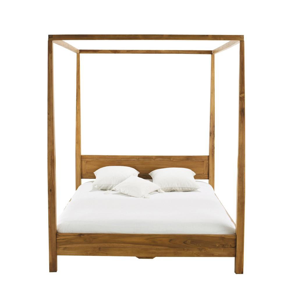 Solid teak 160 x 200cm king size fourposter bed