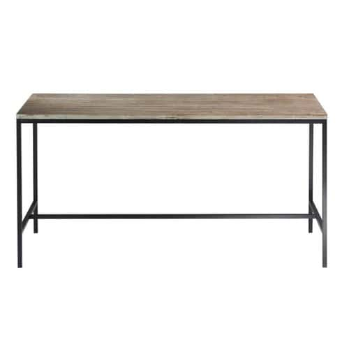 Solid Wood And Metal Industrial Dining Table W 210cm Long