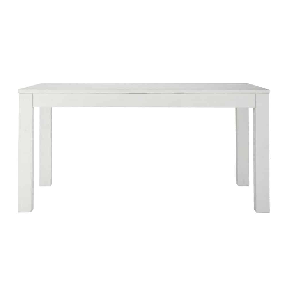 Solid wood dining table in white W 160cm