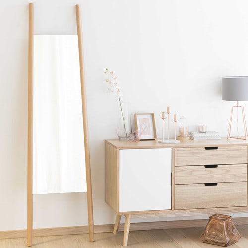 spiegel eriksen mit holzrahmen h 180 cm maisons du monde. Black Bedroom Furniture Sets. Home Design Ideas