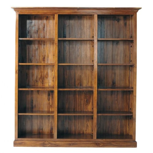 Stained Solid Teak Bookcase W 213cm Key Largo