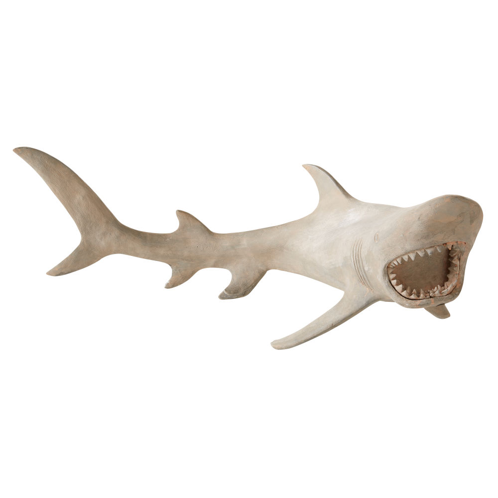 Statue requin grise L76 (photo)
