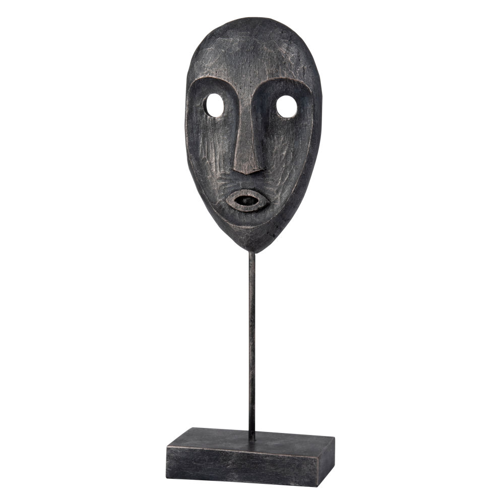 Statuette masque noir H40 (photo)