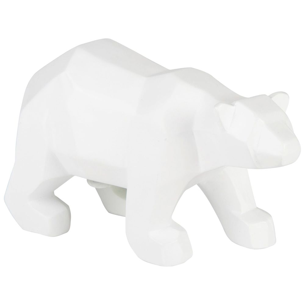 Statuette ours blanc H11