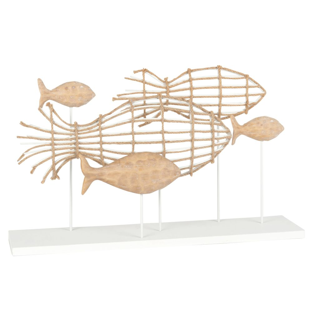 Statuette poissons bicolores L45 (photo)