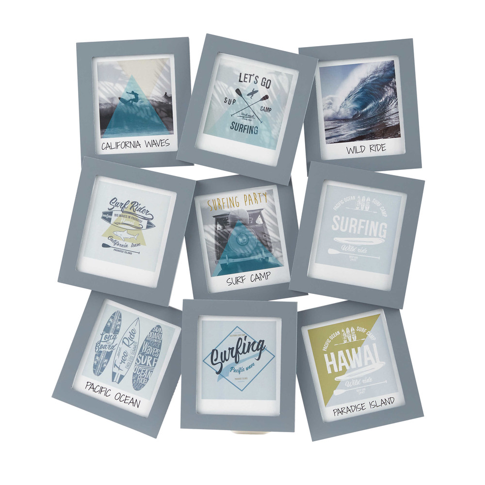 SURFING Grey 9Opening Photo Frame 43 x 39 cm