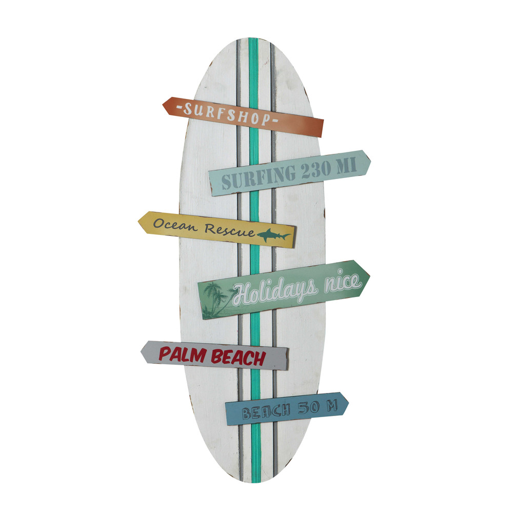 SURFING surfboard wall decoration multicoloured 45 x 90cm