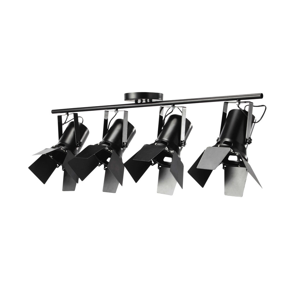 Suspension 4 spots orientables en métal noire L 103 cm HOLLYWOOD