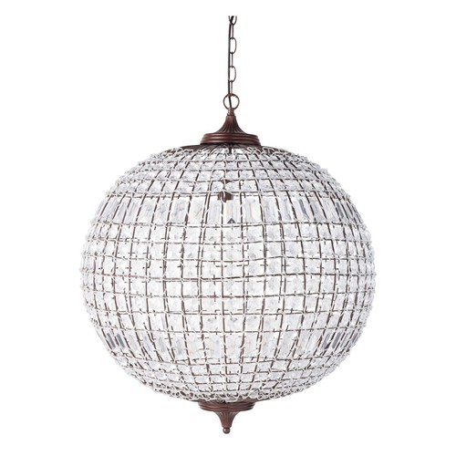 Suspension boule en m tal d 60 cm finon maisons du monde for Suspension luminaire maison du monde