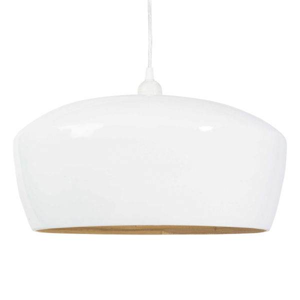 Suspension en bambou blanc D 40 cm