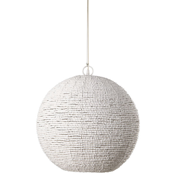 Suspension en billes blanches D.47cm PERLES