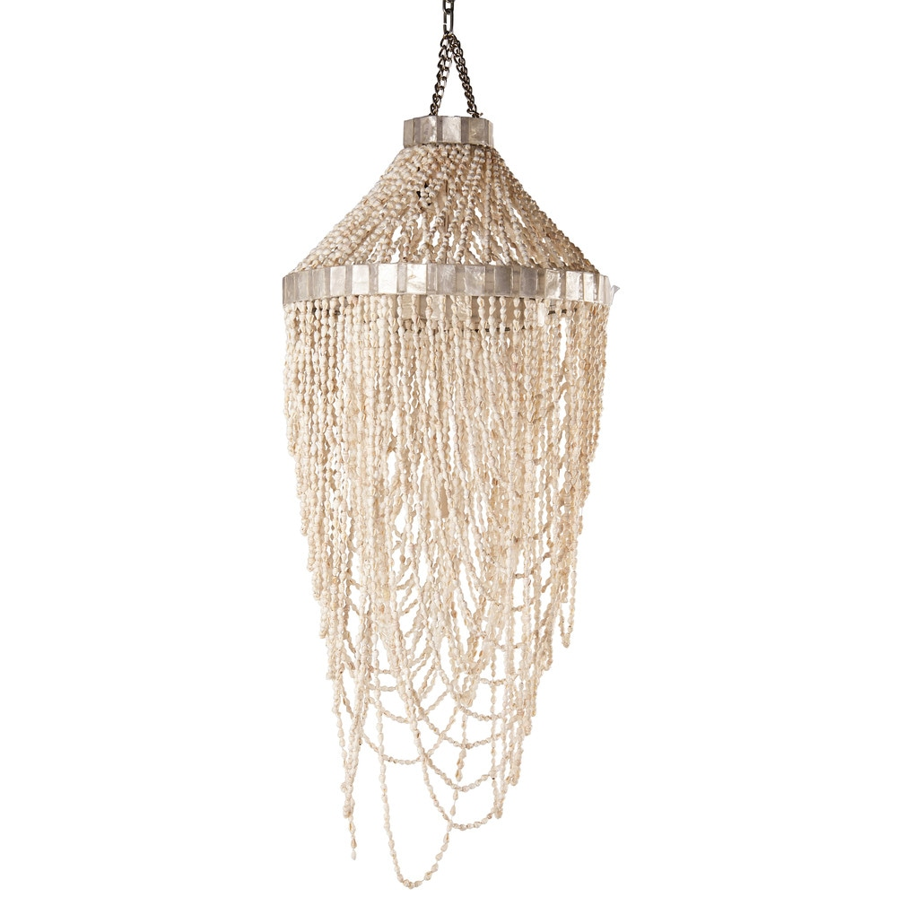 Suspension en coquillages et nacre