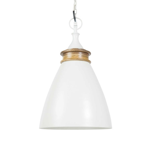 Suspension en métal blanc D 27 cm ADHIRA