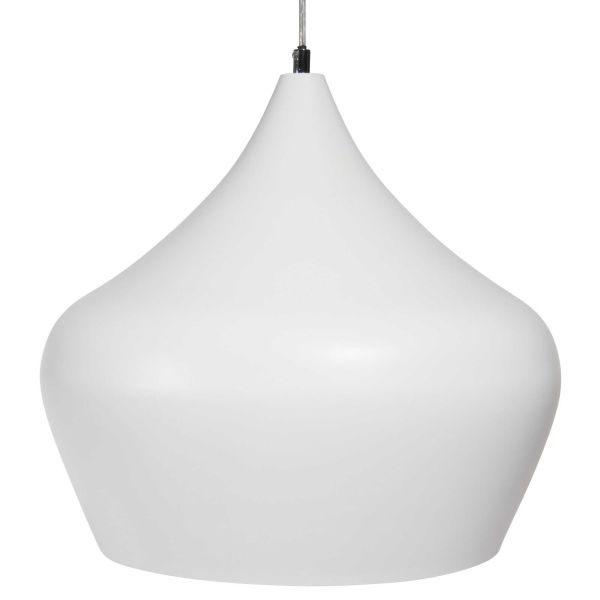 Suspension en métal blanc D 38 cm IBRAH