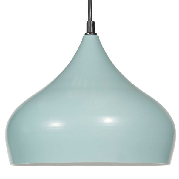 Suspension en métal bleu D 26 cm