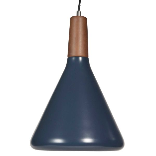 Suspension en métal bleu D 26 cm HELGA