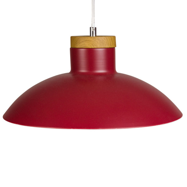 Lustre rouge achat vente de lustre pas cher for Suspension rouge