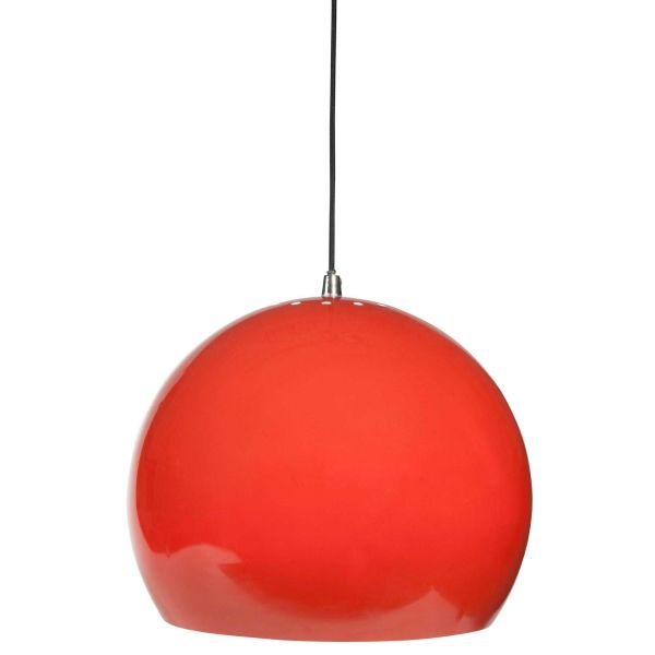 Suspension en métal rouge D 30 cm FIREBALL