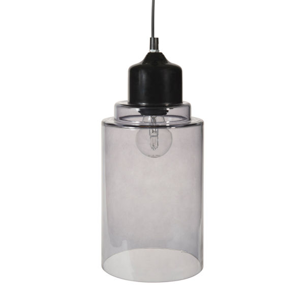 Suspension en verre D 15 cm SMOKY LIGHT