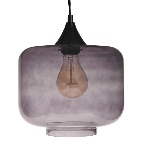 Suspension en verre D 24 cm DEHA SMOKY