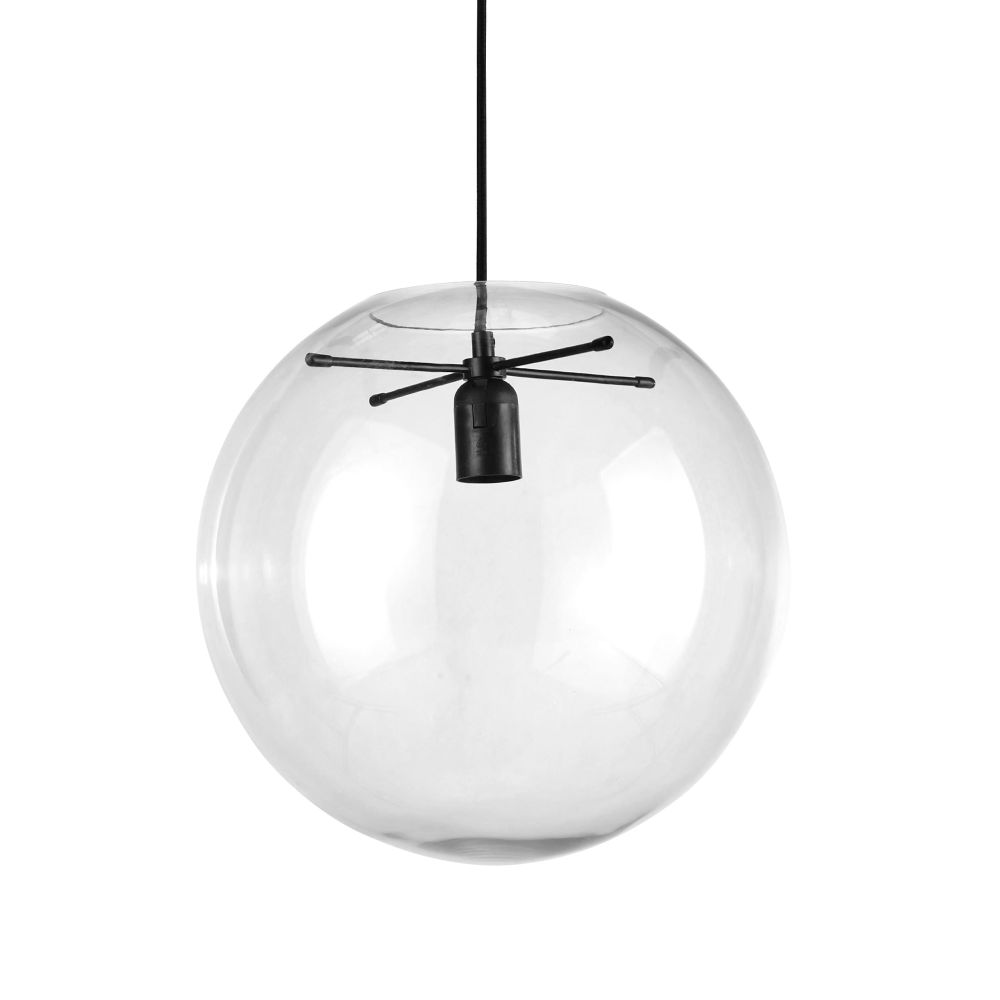 Suspension globe en verre D34