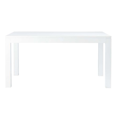 Table manger blanc laqu 6 8 personnes l160 pure maisons du monde for Table laque 8 places