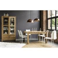Table A Manger Carree En Sheesham Massif 8 Personnes L140 Stockholm