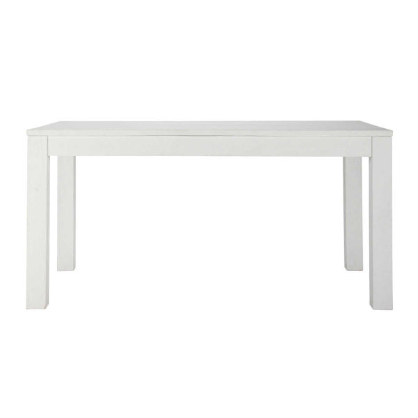 Table à manger en pin massif blanc 6/8 personnes L160 White