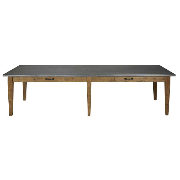 Table à manger en pin recyclé 12/14 personnes L300 Pagnol