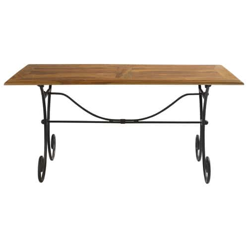 Table Manger En Sheesham Massif Et Fer Forg L160