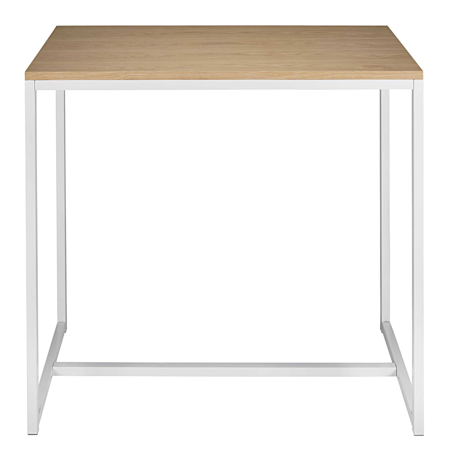 table manger haute en m tal blanc 4 6 personnes l120 maisons du monde. Black Bedroom Furniture Sets. Home Design Ideas