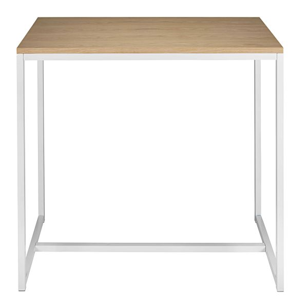 Table haute en métal blanc L.120cm Igloo