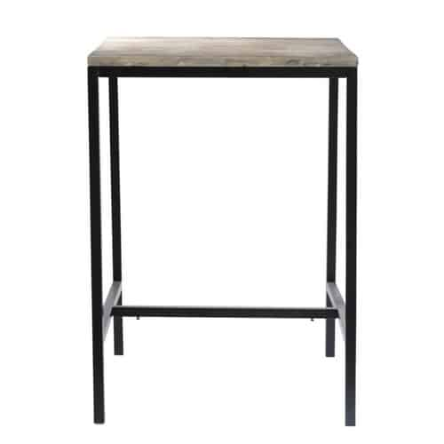 table manger haute en sapin et m tal 2 4 personnes l75. Black Bedroom Furniture Sets. Home Design Ideas