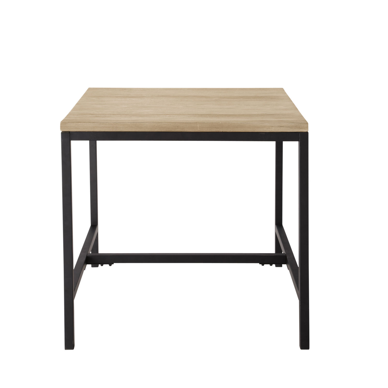 table manger indus en sapin et m tal 4 personnes l80 maisons du monde. Black Bedroom Furniture Sets. Home Design Ideas