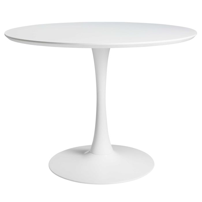 Emejing table a manger blanche ronde contemporary Table blanche extensible 12 personnes