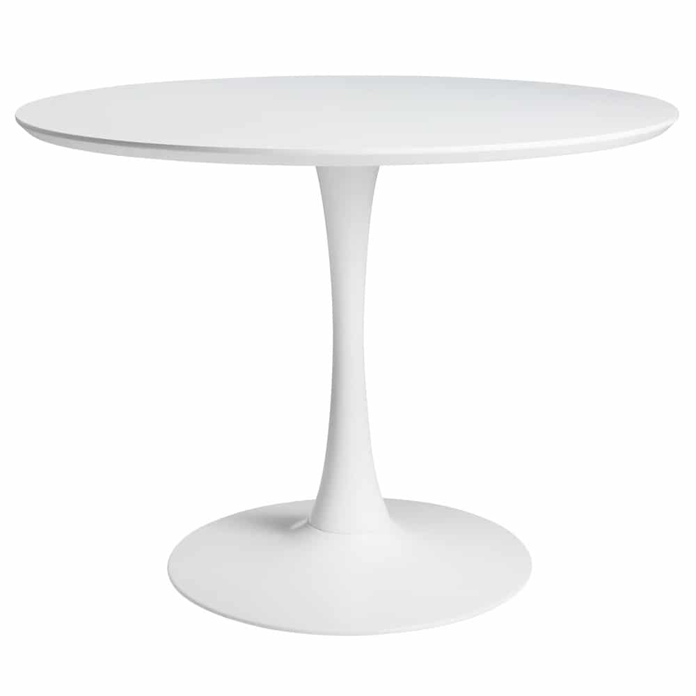 Table à manger ronde blanche 4/5 personnes D100 Circle