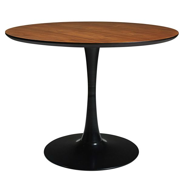 Table en métal noir L.100cm Circle
