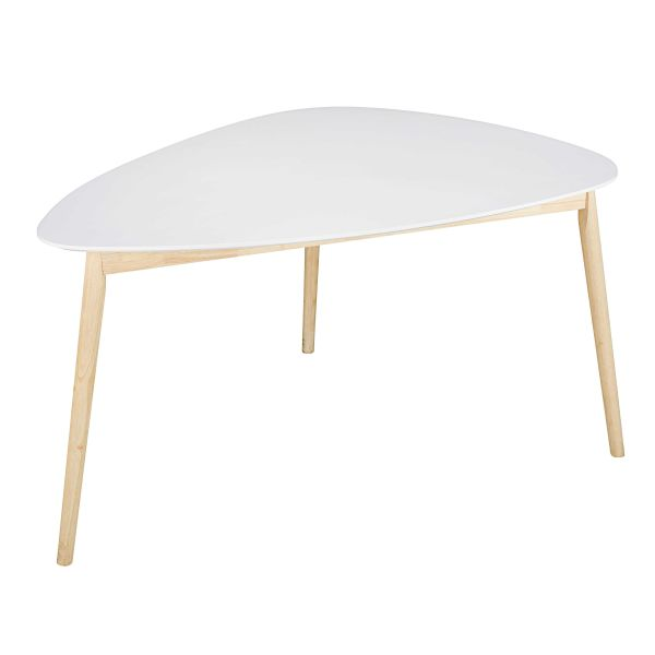Table à manger style scandinave blanche 4/5 personnes L150 Spring