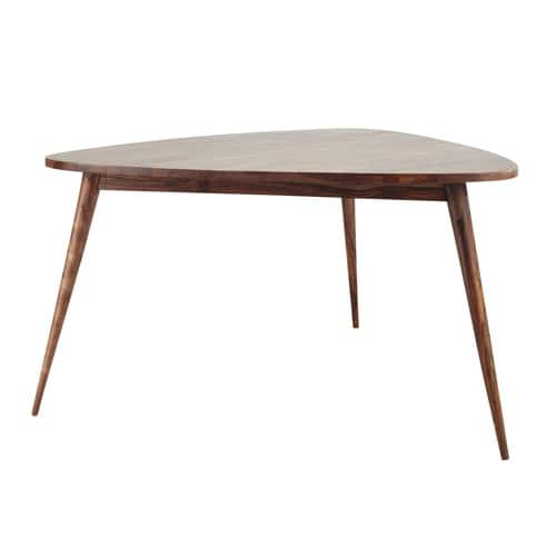 Table manger vintage en sheesham massif 6 personnes l136 for Table a manger retro