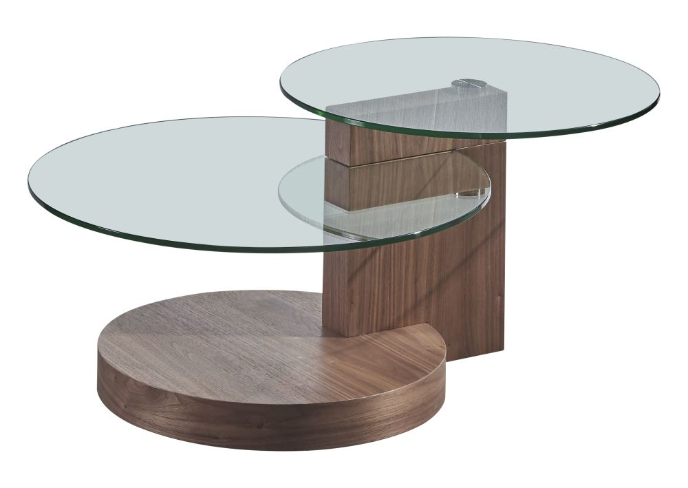 Table basse 2 plateaux en verre Sima (photo)