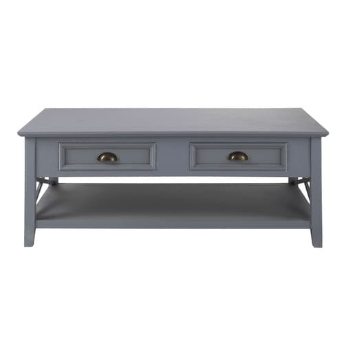 table basse 2 tiroirs bois gris newport maisons du monde. Black Bedroom Furniture Sets. Home Design Ideas