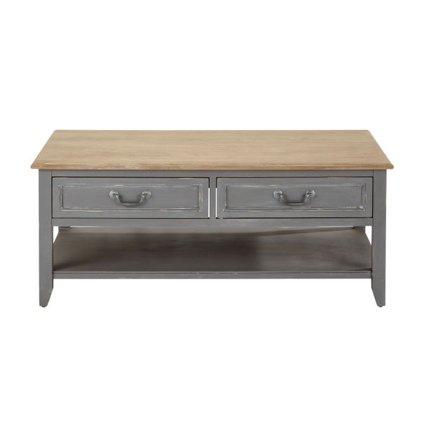Table basse en bois grise L 110 cm Honorine