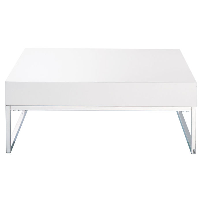 Table Basse Blanc Laque Easy Maisons Du Monde