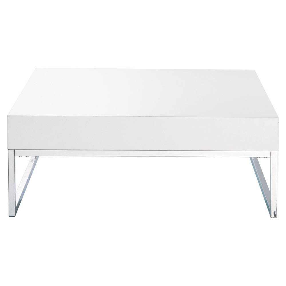 Table basse blanc laqué Easy (photo)