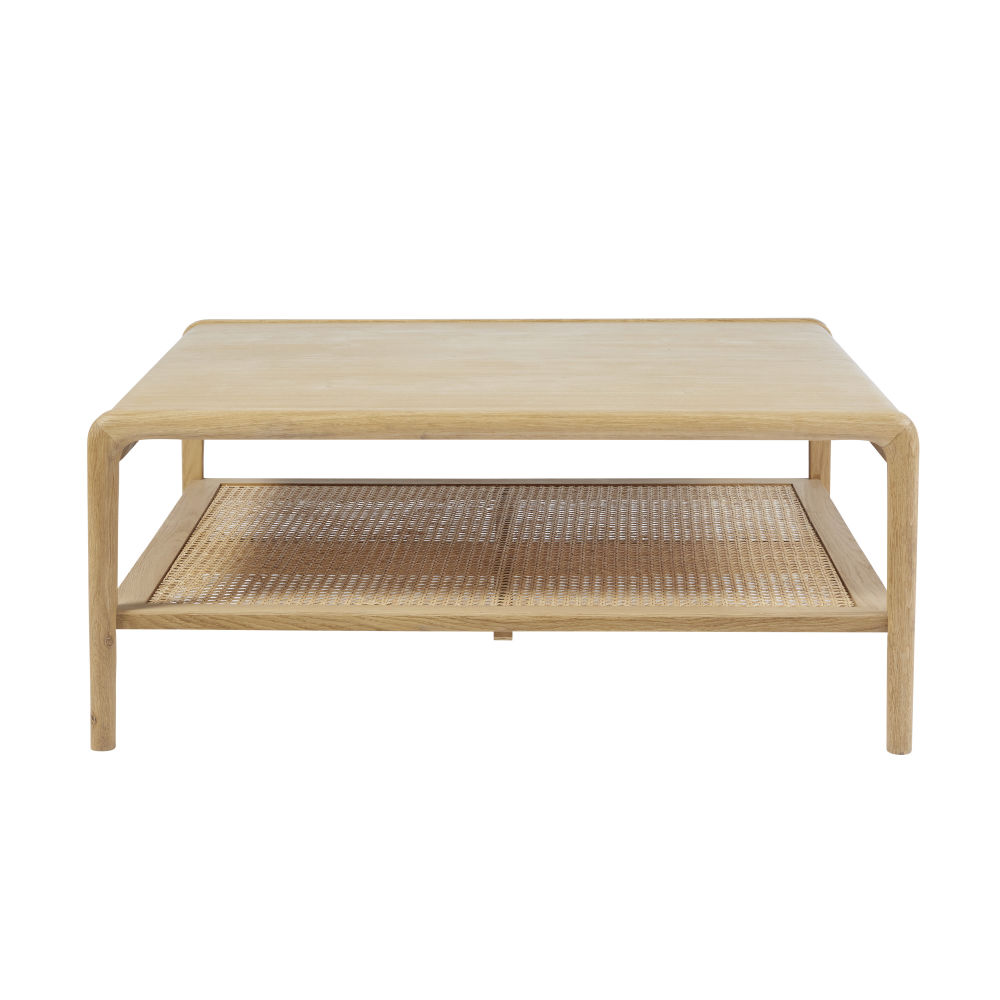 Table basse carrée avec cannage en rotin Canopy (photo)
