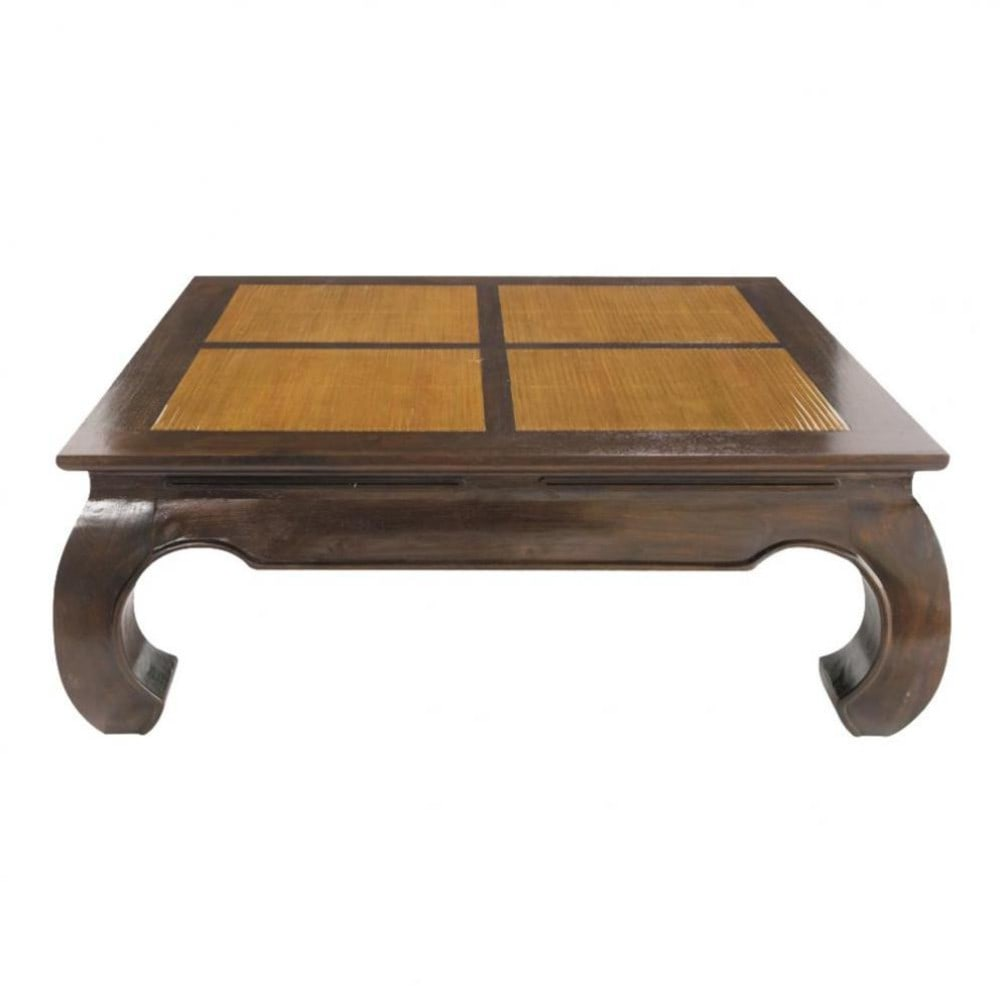 Table basse carrée Bamboo (photo)