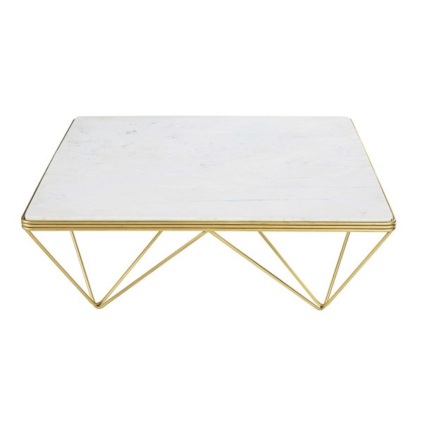 Table basse carr e for Table basse en marbre