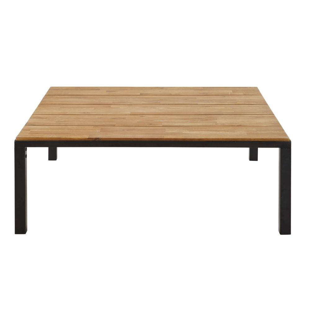 Table massif acacia for Table basse acacia massif